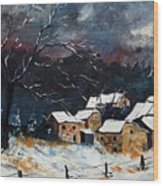 Snow 57 Wood Print by Pol Ledent