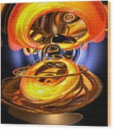 Solar Flare Abstract Wood Print by Alexander Butler