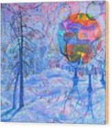 Solstice Wood Print by Rollin Kocsis