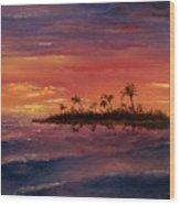 South Pacific Atoll Wood Print by Jack Skinner