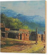 Southwest Village Wood Print by Robert Carver