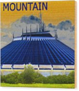 Space Mountain Wood Print by David Lee Thompson