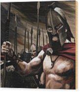Spartans 300 Wood Print by James Shepherd