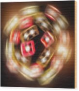 Sphere Of Light Wood Print by Wim Lanclus