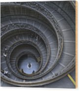 Spiral Staircase Wood Print by Maico Presente