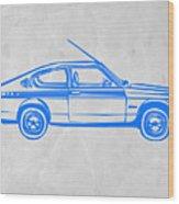 Sports Car Wood Print by Naxart Studio