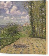 Spring Wood Print by Camille Pissarro