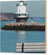 Spring Point Ledge Lighthouse Wood Print by Greg Fortier