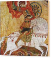 St George I Wood Print by Tanya Ilyakhova