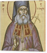 St Luke The Surgeon Of Simferopol Wood Print by Julia Bridget Hayes