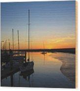 St. Mary's Sunset Wood Print by M Glisson