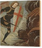 St. Michael And The Angels At War With The Devil Wood Print by Domenico Ghirlandaio