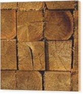 Stack Of Logs Wood Print by David Chapman