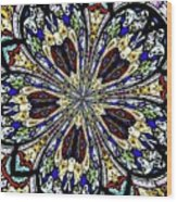 Stained Glass Kaleidoscope 38 Wood Print by Rose Santuci-Sofranko