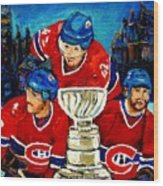 Stanley Cup Win In Sight Playoffs   2010 Wood Print by Carole Spandau