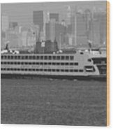 Staten Island Ferry Bw16 Wood Print by Scott Kelley