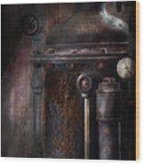 Steampunk - Handling Pressure  Wood Print by Mike Savad