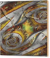 Steampunk - Spiral - Space Time Continuum Wood Print by Mike Savad