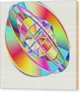 Steampunk Gyroscopic Rainbow Wood Print by Michael Skinner