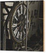 Steampunk - Timekeeper Wood Print by Paul Ward
