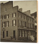 Stephensons Hotel - Harpers Ferry  West Virginia Wood Print by Bill Cannon