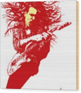 Steve Vai No.01 Wood Print by Caio Caldas