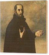 St.ignatius Loyola Wood Print by Francisco de Zurbaran