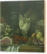 Still-life With A Lobster Wood Print by Tigran Ghulyan