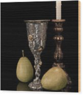 Still Life With Pears Wood Print by Tom Mc Nemar