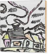 Stitchlip's House Wood Print by Levi Glassrock