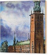 Stockholm Sweden Wood Print by Irina Sztukowski