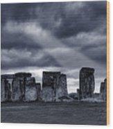 Stonehenge Wood Print by  Jaroslaw Grudzinski