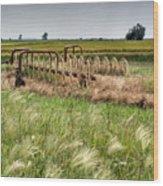 Storm Across The Prairie Wood Print by Douglas Barnett