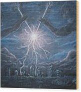 Storm Games Wood Print by Marlene Kinser Bell