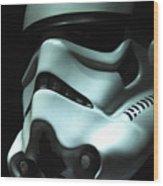 Stormtrooper Helmet Wood Print by Micah May