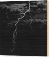 Stormy Night Wood Print by Brad Scott