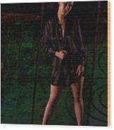 Studio Nude - Kasha No. 2c Wood Print by Paul W Sharpe Aka Wizard of Wonders