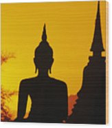 Sukhothai Temple Wood Print by Gloria & Richard Maschmeyer - Printscapes