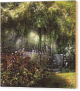 Summer - Landscape - Eve's Garden Wood Print by Mike Savad