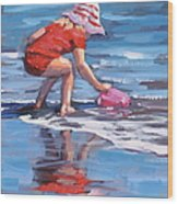 Summer Fun Wood Print by Laura Lee Zanghetti