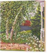 Summer Garden Wood Print by Lea Novak