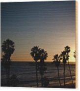 Sun Going Down In California Wood Print by Ralf Kaiser