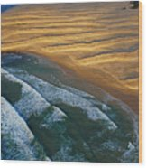 Sun Rise Coast  Wood Print by Skip Hunt