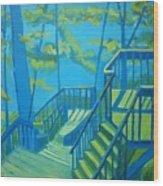 Suncook Stairwell Wood Print by Debra Robinson