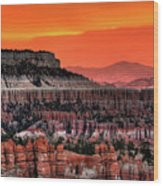 Sunrise At Bryce Canyon Wood Print by Photography Aubrey Stoll