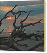 Sunrise At Driftwood Beach 2.2 Wood Print by Bruce Gourley