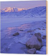 Sunrise Ice Reflection Wood Print by Chad Dutson