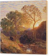 Sunset Wood Print by Samuel Palmer
