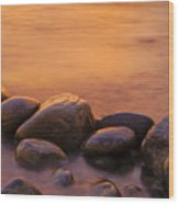 Sunset Wood Print by Silke Magino