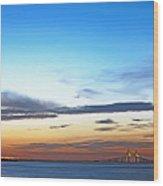 Sunshine Skyway Bridge Wood Print by Skip Nall